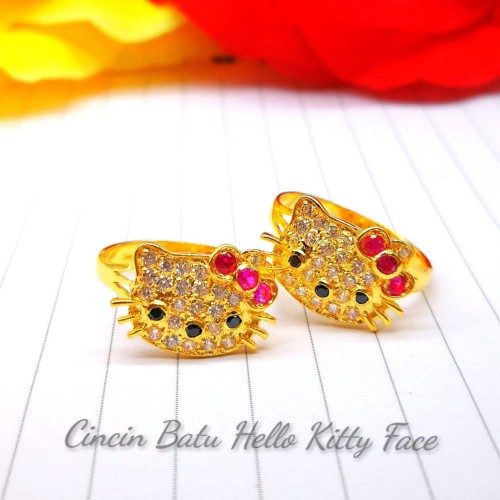 CINCIN BATU HELLO KITTY FACE