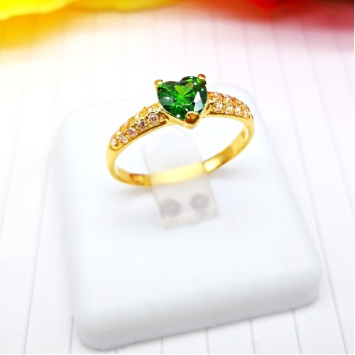 CINCIN BATU LOVE HEART (GREEN)