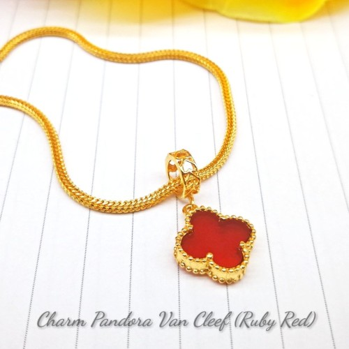 CHARM PANDORA VAN CLEEF (RUBY RED)
