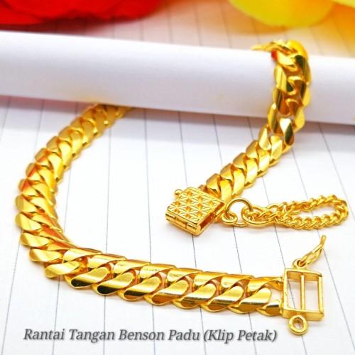 RANTAI TANGAN BENSON PADU (KLIP PETAK)