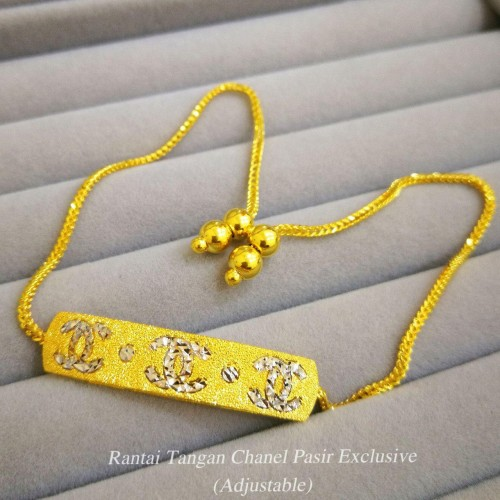 RANTAI TANGAN CHANEL PASIR EXCLUSIVE (ADJUSTABLE)